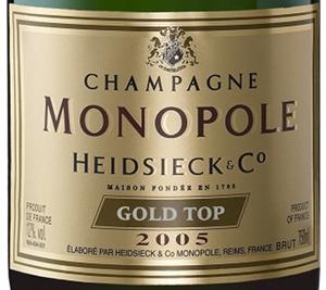 champagne heidsieck co monopole gold top blanc 2005 terre de vins. Black Bedroom Furniture Sets. Home Design Ideas